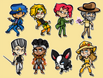 Part 3 Stickers/Magnets/Charms by DarkChibiShadow
