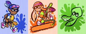 Splatoon Stickers/Magnets/Charms!