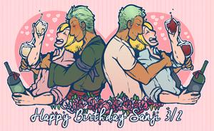 Happy Birthday Sanji by DarkChibiShadow
