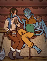 COMMISSION: Drunken Fools by DarkChibiShadow