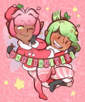 Christmas Fairies by DarkChibiShadow