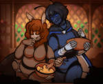 COMMISSION: Coffee and Tybalt by DarkChibiShadow