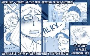 ALKALINE AND ZEGGY, NEW R18+ COMIC! by DarkChibiShadow