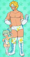 Wrestle Couple by DarkChibiShadow