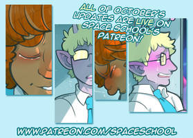 Space School's October updates are up on Patreon! by DarkChibiShadow