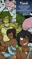 Tomai Promotional Bookmark 2018 by DarkChibiShadow