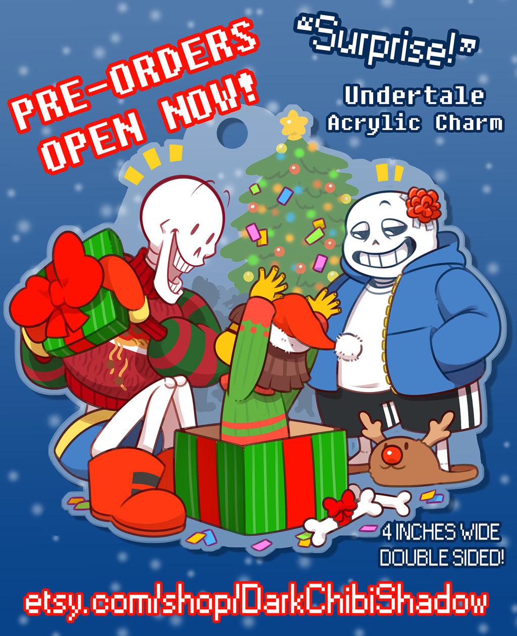 'Surprise!' Undertale Charm [PRE-ORDERS] by DarkChibiShadow