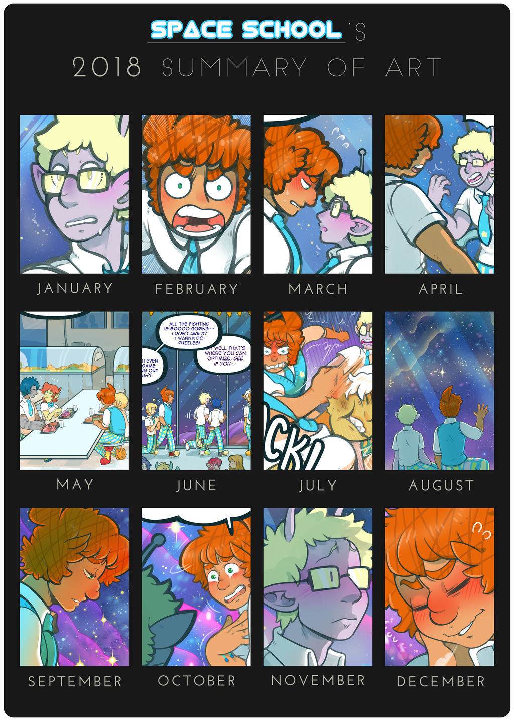 Space School - 2018 Summary by DarkChibiShadow
