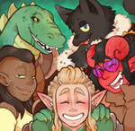 COMMISSION: DnD Group by DarkChibiShadow