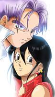 new saiyan couple by liaartemisa