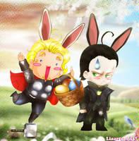 Asgard easter bunnies by liaartemisa