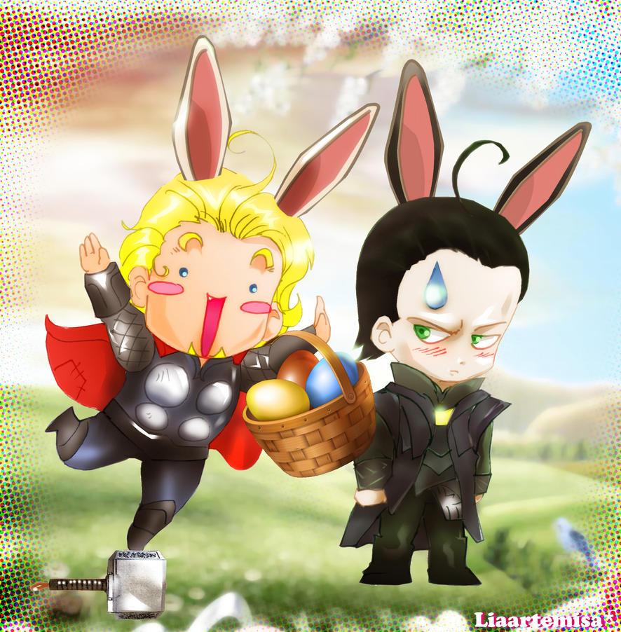 Asgard conejitos de pascua por liaartemisa