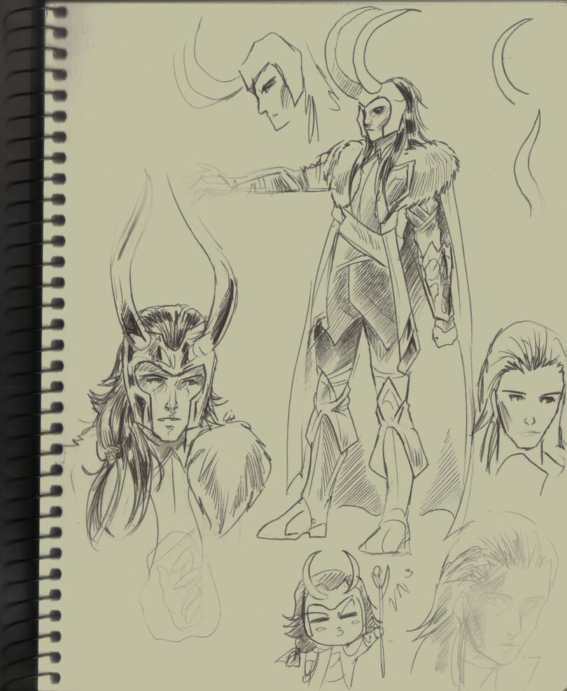 Loki new suit design doodles by liaartemisa