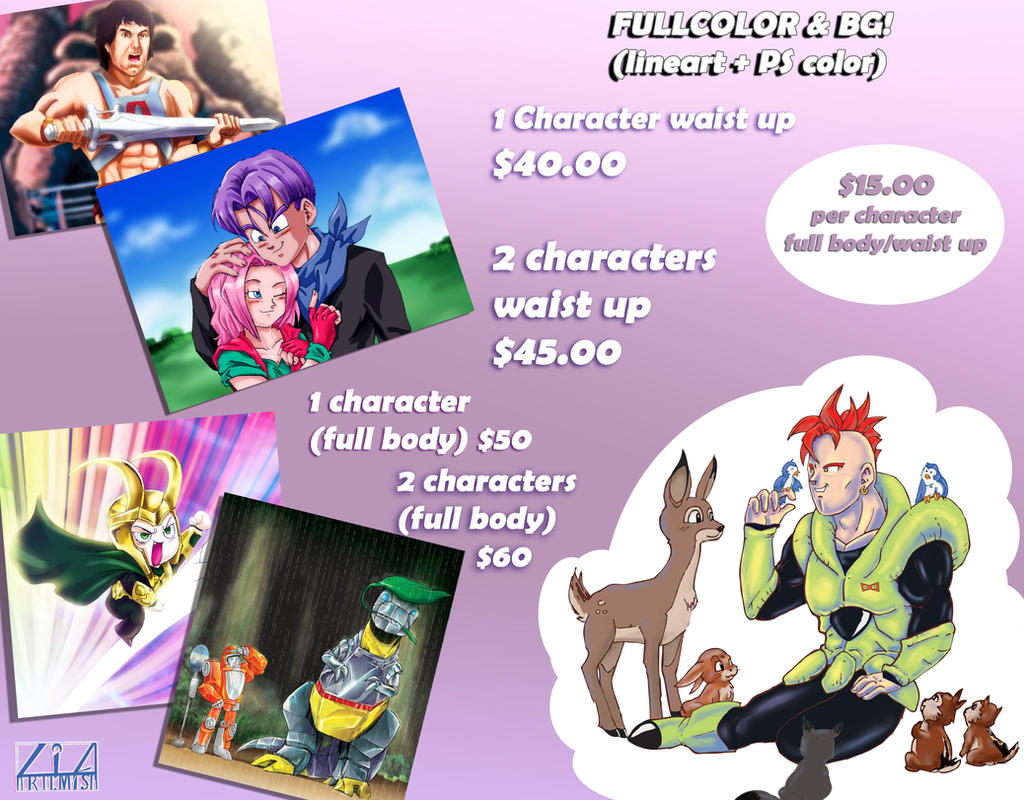 Fullcolor and background prices by liaartemisa
