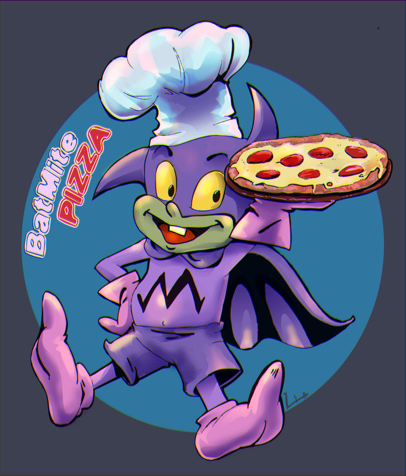 Batmite PIZZA by liaartemisa