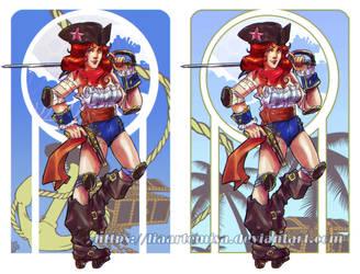 Pirate Roller Derby Gal