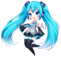 VOCALOID HATSUNE MIKU KEYCHAIN (Buy Now) by IciaChan