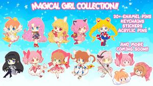 Magical Girl Enamel Pin Kickstarter LIVE NOW