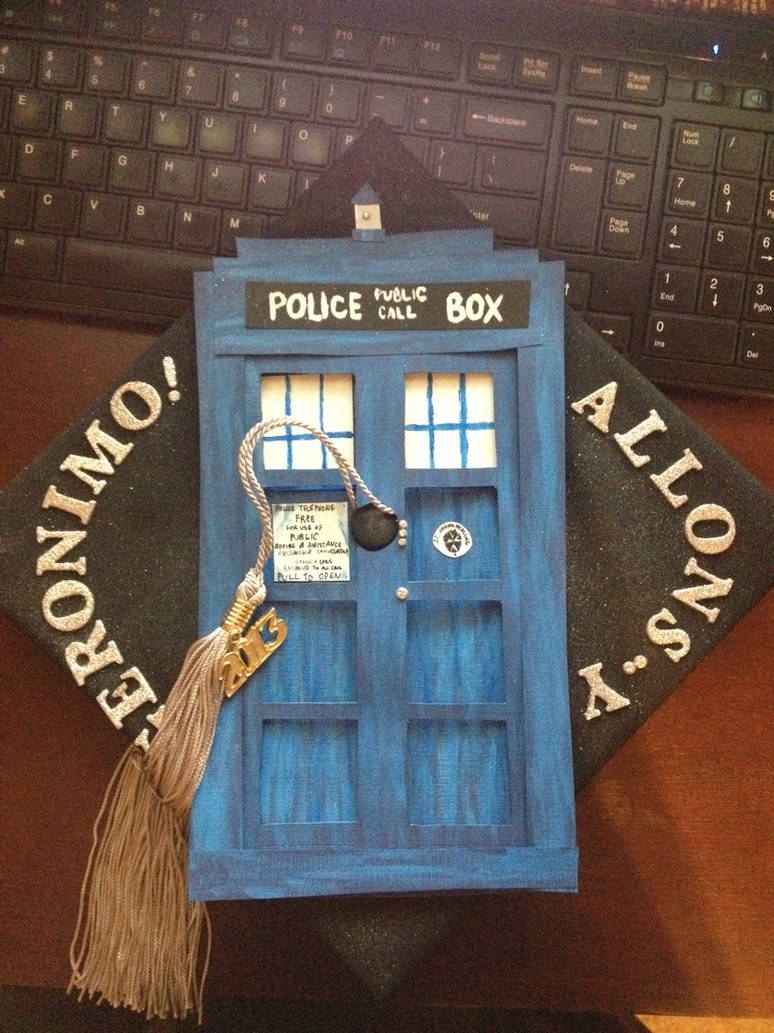Doctor Who Graduation Cap by thing1thatiam