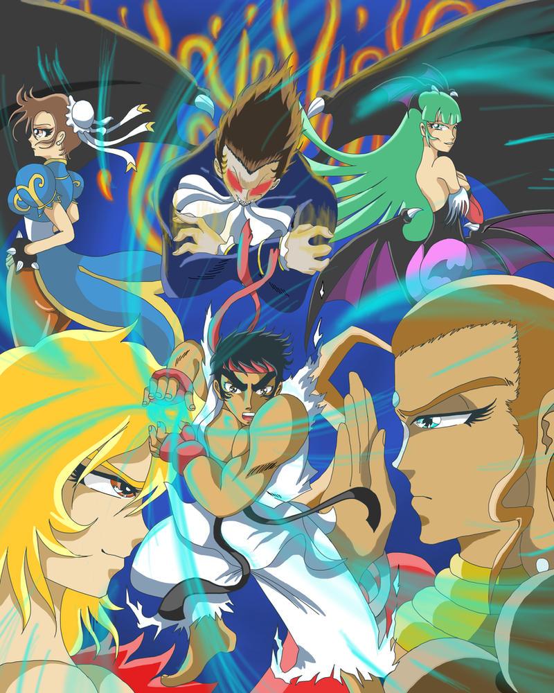Street Fighter vs Darkstalkers by RyuseiTenma