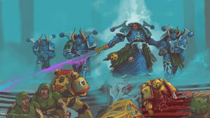 Sudden strike of a chaos marines squad by DimitrijGontscharart