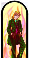 Michael in green suit by luxshine