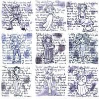 Inktober 2017: Stephen King's ladies part 1 by luxshine