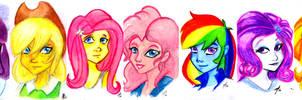 Equestria Girls Portraits by luxshine