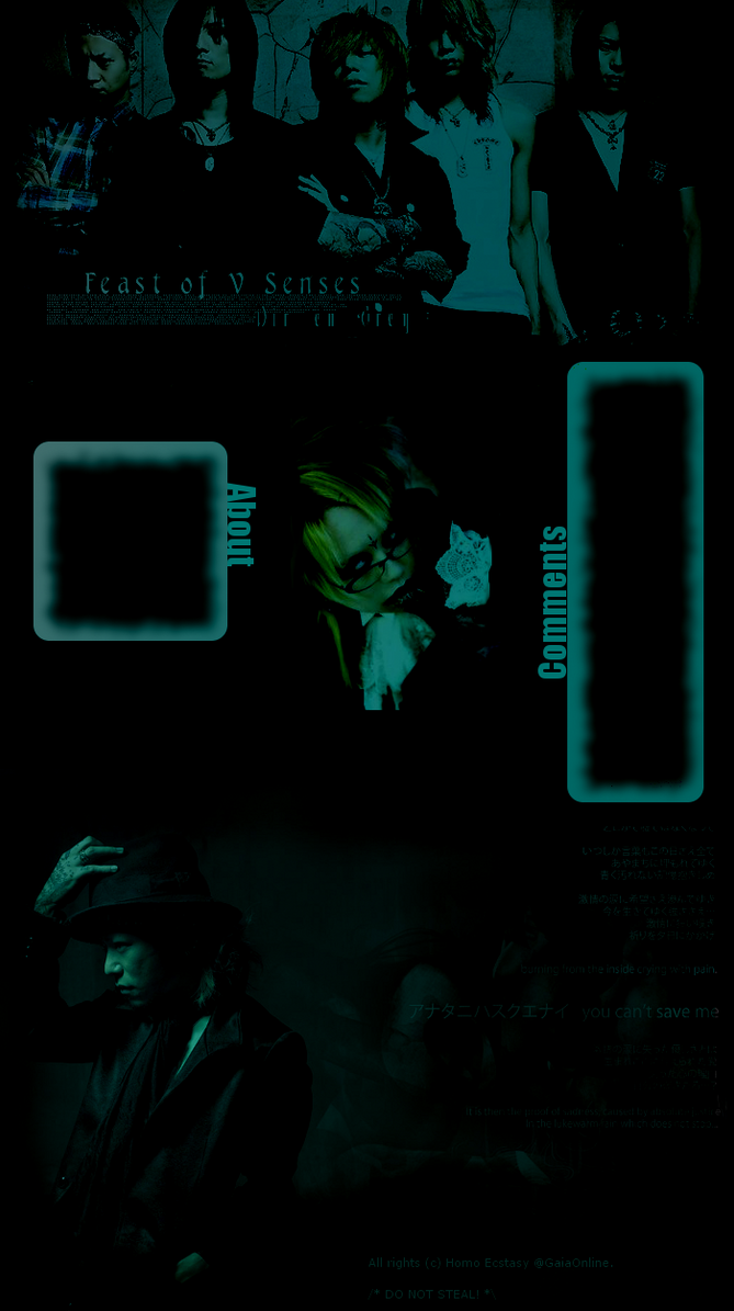 Dir en Grey - Profile Layout by ~BBYEATER on deviantART