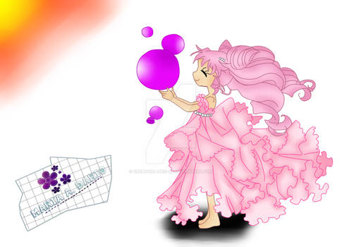 Small Lady Con Burbujas