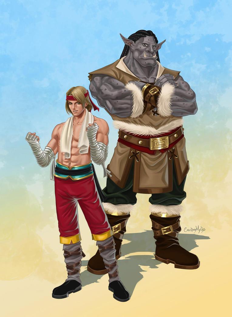 Axel and Muralha by Shantalla