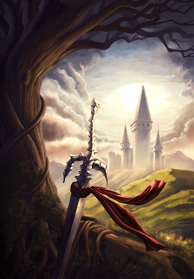 The lone sword in the hill by Shantalla