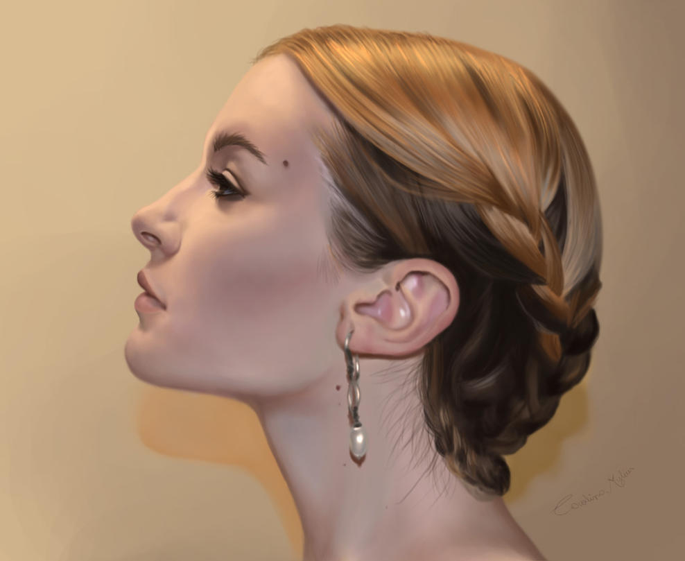 Woman face by Shantalla
