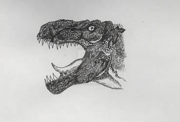 Tyrannosaurus Head by Aramis-of-the-makuta