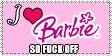 I love Barbie Stamp by Nasdreks