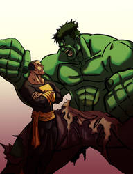 Black Adam Vs. The Hulk