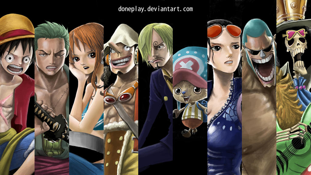 Straw Hat Pirates by doneplay