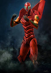 Evangelion Unit-02 by doneplay
