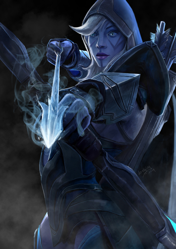 drow ranger dota2 by doneplay on deviantart