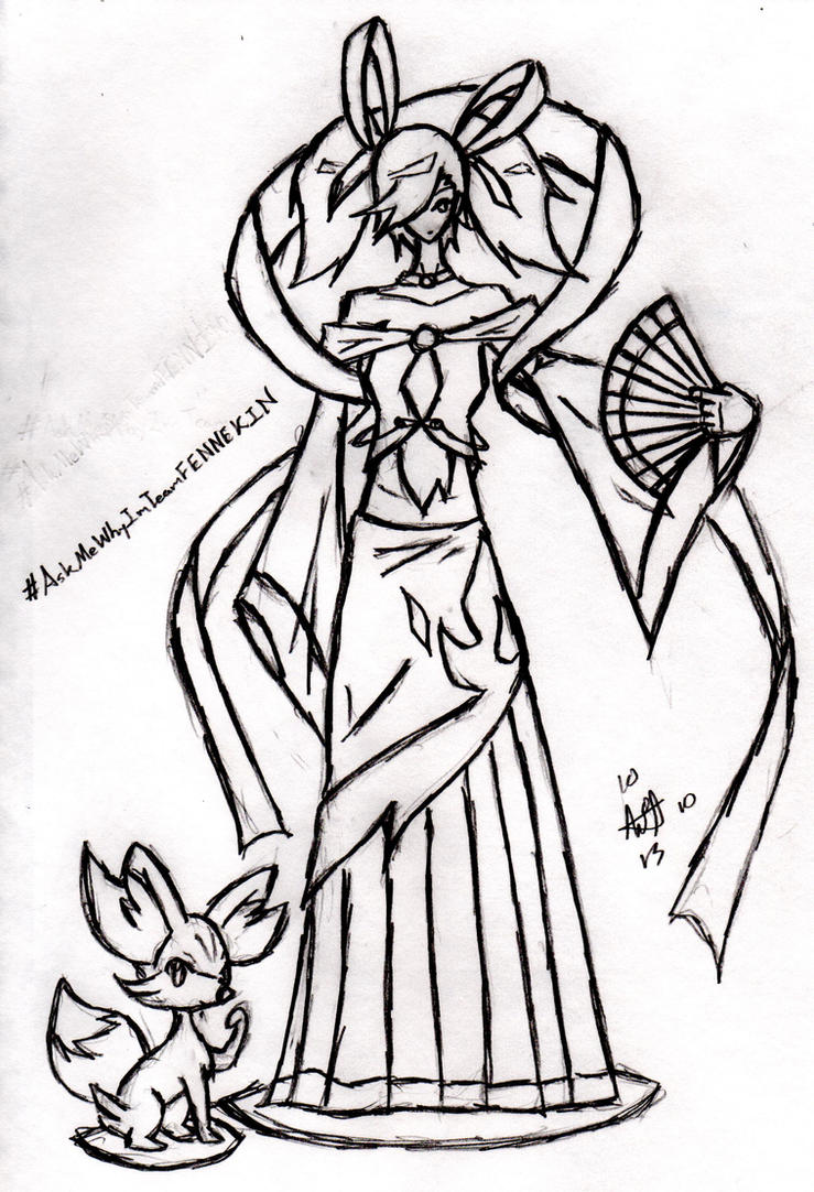 Askmewhyimteamfennekin delphox gijinka by ctr v on for Ctr coloring page