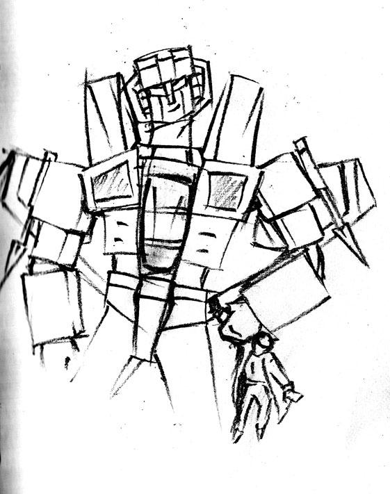 Sketch: Starscream by redspidey