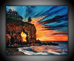 sunset by Ogvi