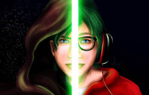 Jedi Gamer (Self Portrait) by imajanaeshun