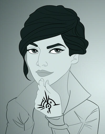 Dishonored 2 Poster WIP - Emily Kaldwin by imajanaeshun