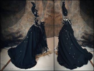 Midnight II: The Dark Beauty art doll by LellecoShop