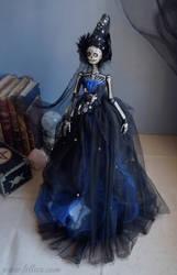 Audra The Dak Sky: The Dark Beauty art doll by LellecoShop