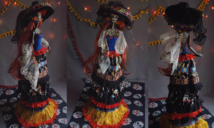 Dolores Day of the Dead: The Dark Beauty art doll by LellecoShop