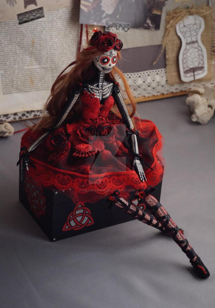 Poppy of The Dead Art doll by LellecoShop