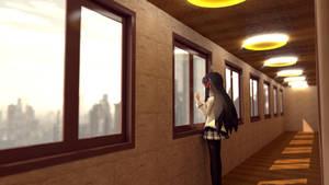 Akemi Homura at Coridor