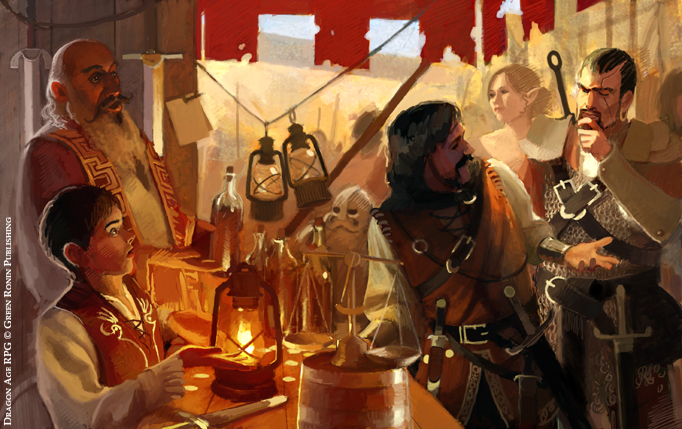 Dragon Age Stuff, Merchant by Mancomb-Seepwood
